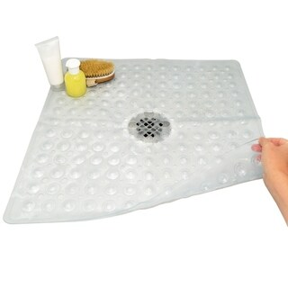 Evelots Square Shower Mat - 21 x 21