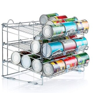 Stackable Chrome Can Organizer, Holds up to 36-Cans