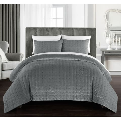 Gracewood Hollow Marechera 3-piece Comforter Set Luxe Hand-stitched Velvet