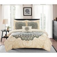 Chic Home Amina 8 Piece Reversible Paisley Print Comforter Set - Beige