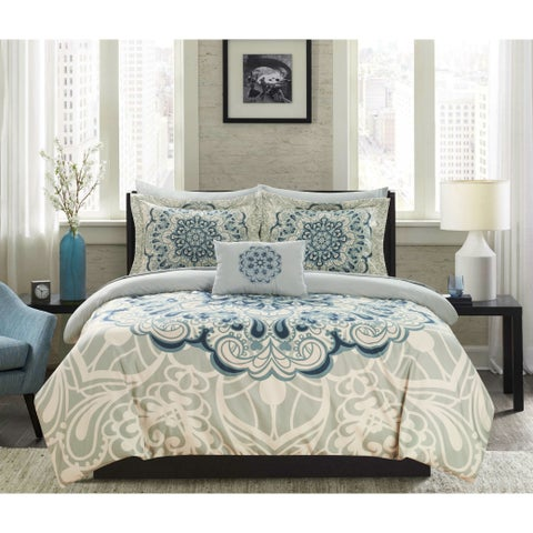 Chic Home Amina 8 Piece Reversible Paisley Print Comforter Set