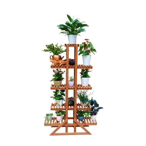 Shop 5 Tier Indoor Outdoor Plant Stand Free Shipping Today