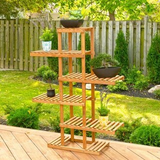 5-Tier Pedestal Plant Stand