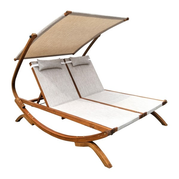 Shop Double Reclining Lounge Chair With Canopy Free