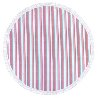 "Link to Kaufman - 60"" Round Fouta Stripe Beach SAND-FREE Towel -PNK Similar Items in Towels"