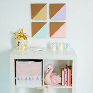 Asher Home Metallic 4-piece Corkboard Message Board