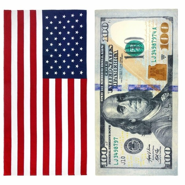 Shop Kaufman 100 Dollar Bill Amp American Flag Printed