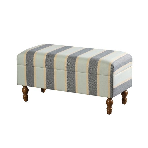 Outstanding Shop Upholstered Stripe Design Storage Bench Multi Color Gmtry Best Dining Table And Chair Ideas Images Gmtryco