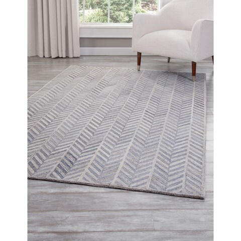 Harper Blue and Ivory Area Rug by Greyson Living