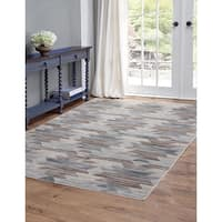 Anzio Blue and Brown Area Rug by Greyson Living