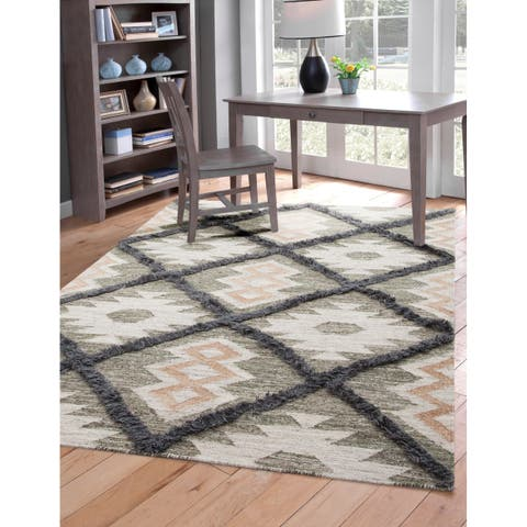 Faris Grey and Natural Area Rug by Greyson Living
