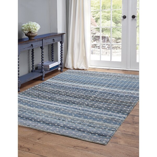 Julia Blue and Ivory Area Rug by Greyson Living