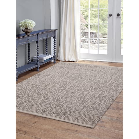Emilia Grey and Ivory Area Rug by Greyson Living