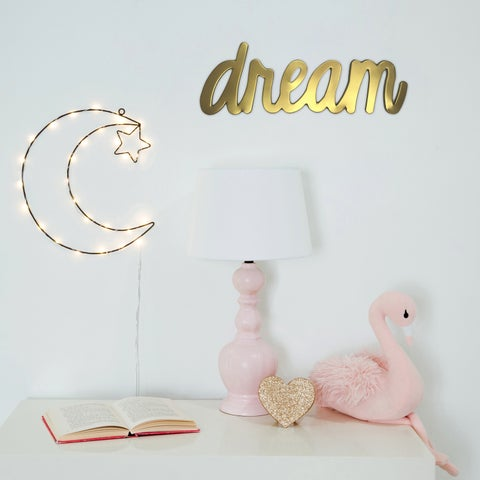 Asher Home Twinkle Moon LED Night Light