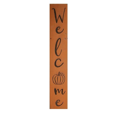 Welcome Pumpkin 5x30 Engraved Sign