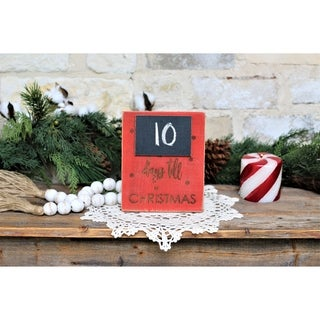 Days Till Christmas 5x7 Engraved Sign