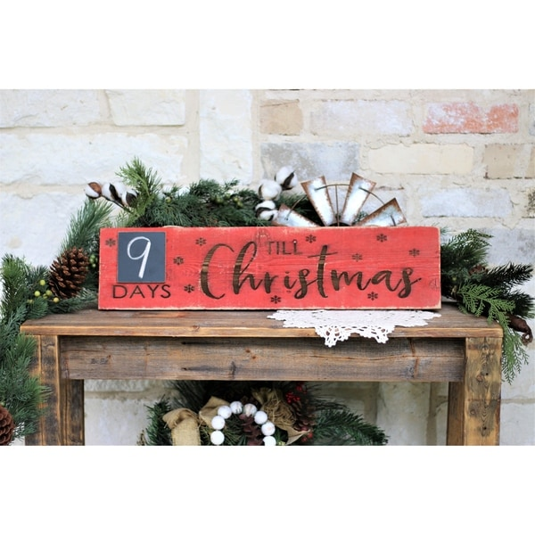 Days Till Christmas 24x6 Engraved Sign