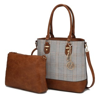 MKF Collection Mya Plaid Tote with Crossbody Bag by Mia K.