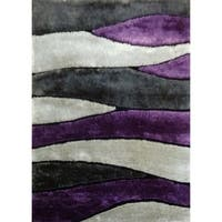 """Contemporary Purple Abstract 8x11 Rug - 7'6"""" x 10'3"""""""