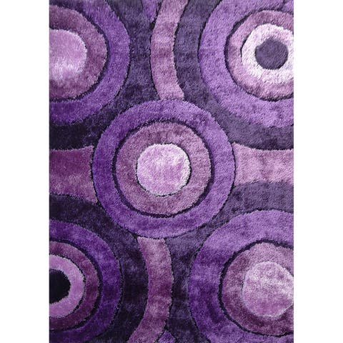 "Geometric lavender Abstract 8x11 Rug - 7'6"" x 10'3"""