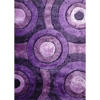 "Geometric lavender Abstract 8x11 Rug - 7'6"" x 10'3"""