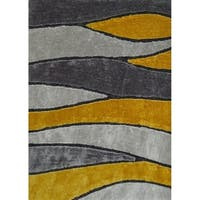 """Contemporary Yellow Abstract 8x11 Rug - 7'6"""" x 10'3"""""""