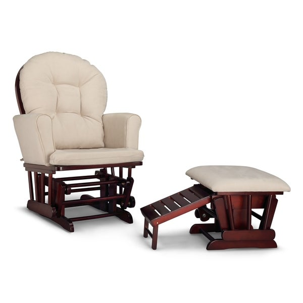 Graco Parker Semi-Upholstered Glider and Nursing Ottoman