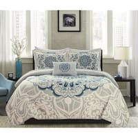 Chic Home Elmaz 4 Piece Reversible Quilt Coverlet Set Paisley Print