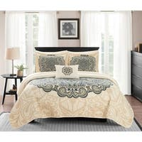 Chic Home Elmaz 4 Piece Reversible Quilt Coverlet Set Paisley Print