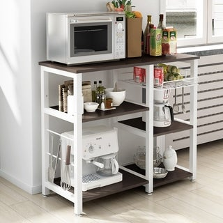 """Soges 3-Tier Kitchen Baker's Rack Utility Microwave Stand Storage Cart - 35.4""""(l) x 15.7""""(w) x 32.7""""(h)"""