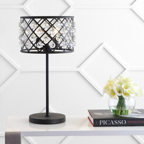 "Gabrielle 22.5"" Metal/Crystal LED Table Lamp, Oil Rubbed Bronze by JONATHAN Y"