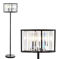 "Bevin 63"" Metal/Crystal LED Floor Lamp, Oil Rubbed Bronze/Crystal by JONATHAN  Y"