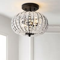 "Catalina 11.7"" Metal /Acrylic LED Semi-Flush Mount, Oil Rubbed Bronze/Crystal by JONATHAN  Y"
