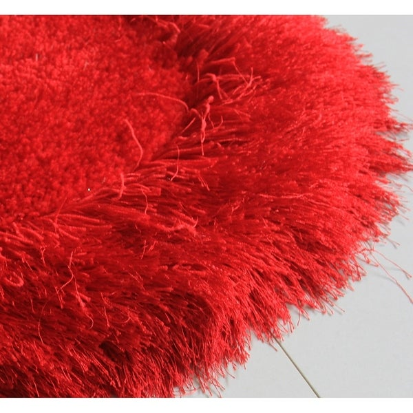 "Heart Shape Hand Tufted Shag Area Rug (28-inch x 32-inch) - 28"" x 32"""