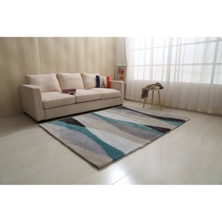 """""""Aria Collection"""" Soft Pile Shag Area Rug (5-ft x 7-ft)"""