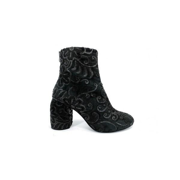 Ethem Garden Women's Flowered Boots in Baronia Black