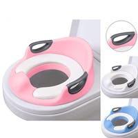 Potty Trainer Toilet Chair Seat For Kids Boys Girls & Toddlers - With Cushion Handles, Seat And Backrest - Anti Slip Material