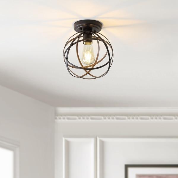 Shop Carbon Loft McKinnon Oil Rubbed Bronze Orb Metal LED