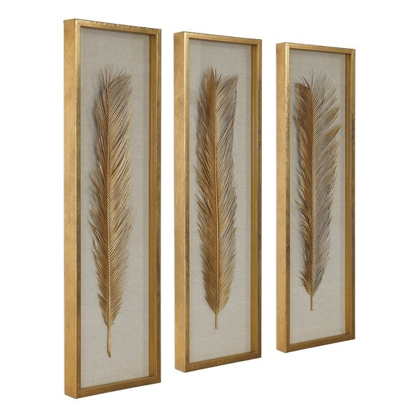 Uttermost Palma Gold Leaf Shadow Boxes (Set of 3). Opens flyout.