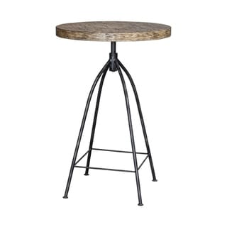 Link to Uttermost Dalvin Industrial Aged Steel and Driftwood Pub Table Similar Items in Dining Room & Bar Furniture