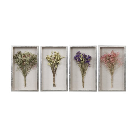 Uttermost Summer Bouquets Shadow Boxes (Set of 4)