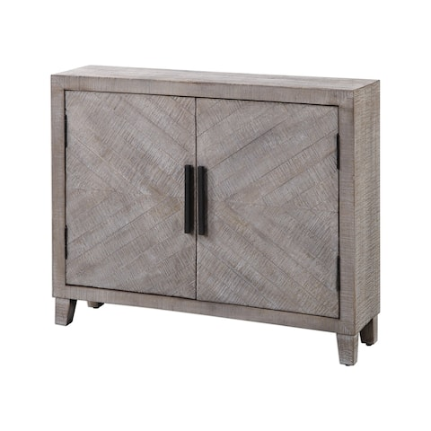 Uttermost Adalind White Washed Accent Cabinet