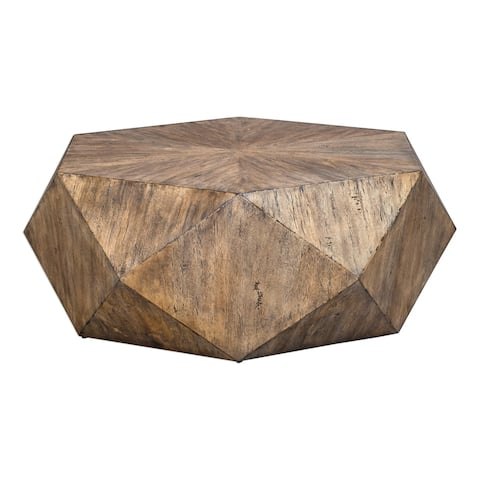 Uttermost Volker Burnished Honey Coffee Table