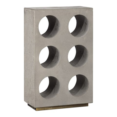 Uttermost Kye Flecked Gold Concrete Wine Holder