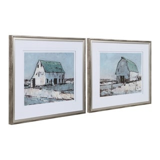 Link to Uttermost Plein Air Barns Framed Prints (Set of 2) - Blue Similar Items in Art Prints