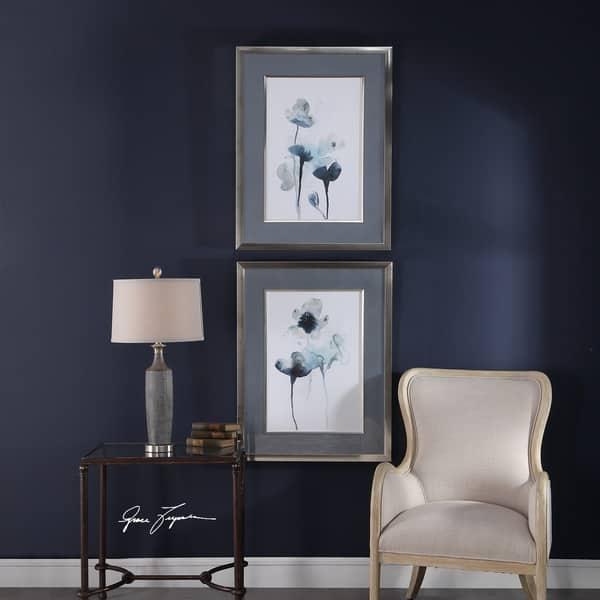 Shop Uttermost Midnight Blossoms Framed Prints (Set of 2