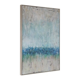 Uttermost Tidal Wave Silver Abstract Art - Grey/Multi-color