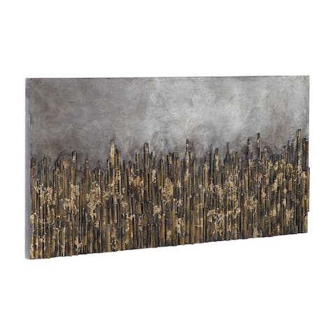 Uttermost Golden Fields Metallic Art - Grey/Silver