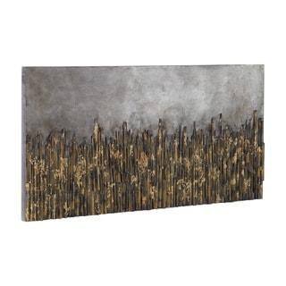 Uttermost Golden Fields Metallic Art - Grey/Silver