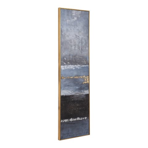 Uttermost Winter Sea Scape Gold Abstract Art - Grey/Blue/Multi-color